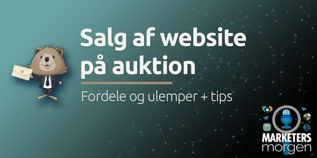 Salg af website på auktion