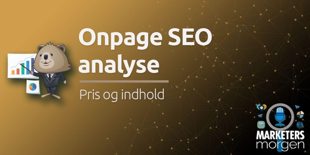 Onpage SEO analyse