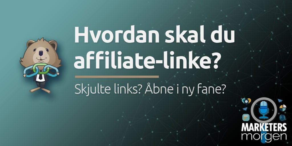 Hvordan skal du affiliate-linke?