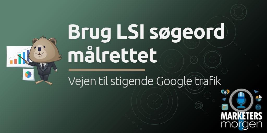 Brug LSI søgeord målrettet