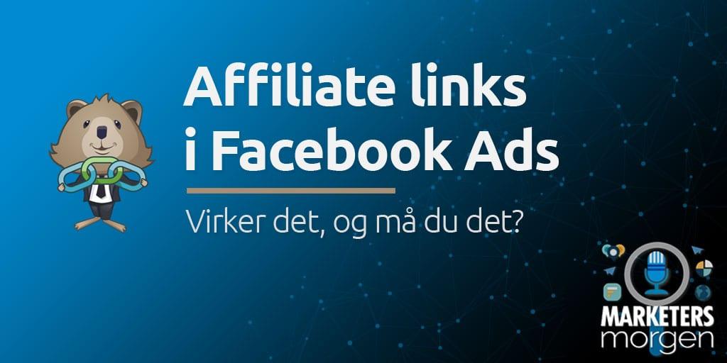 Affiliate links i Facebook Ads