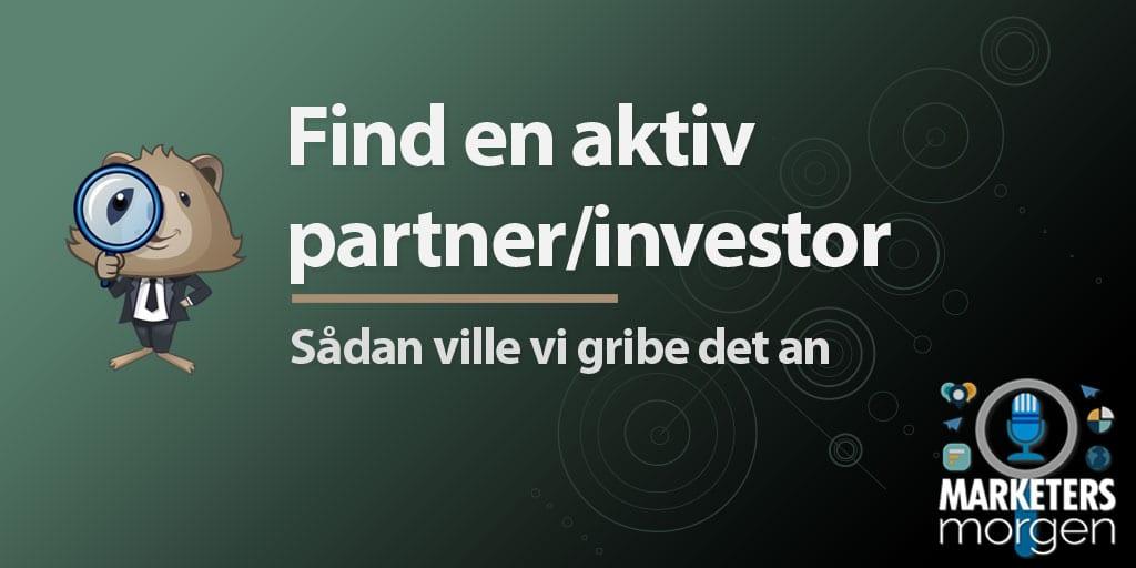 Find en aktiv partner/investor