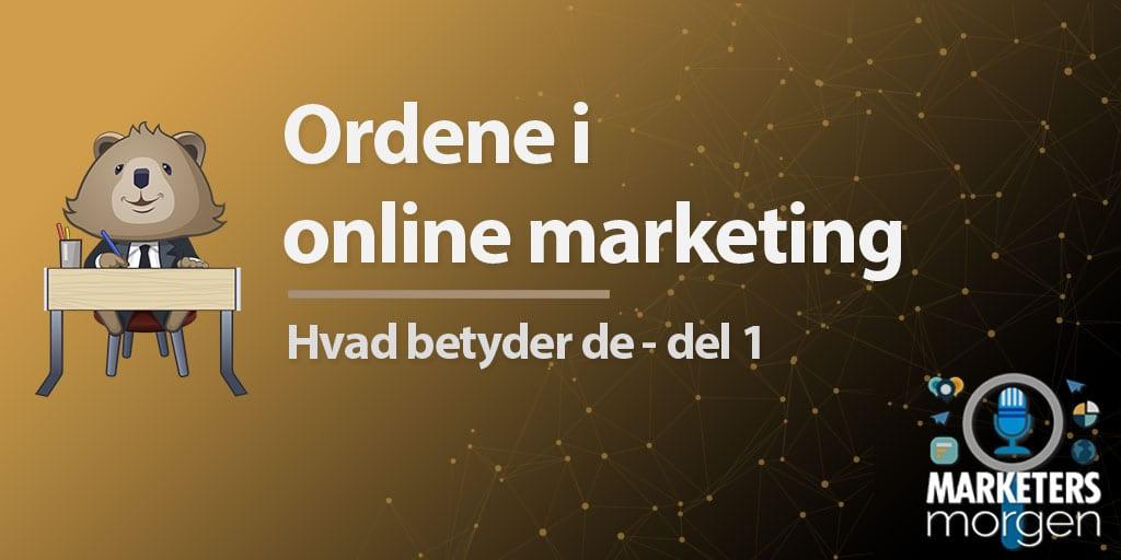 Ordene i online marketing