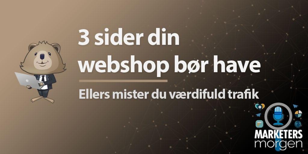 3 sider din webshop bør have