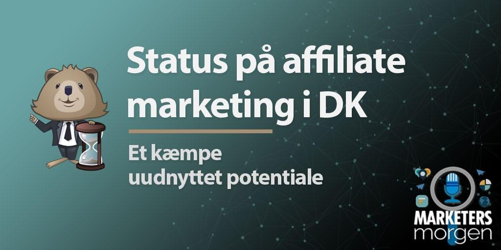 Status på affiliate marketing i DK