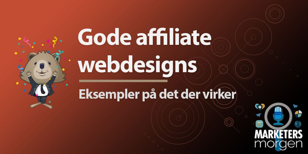 Gode affiliate webdesigns