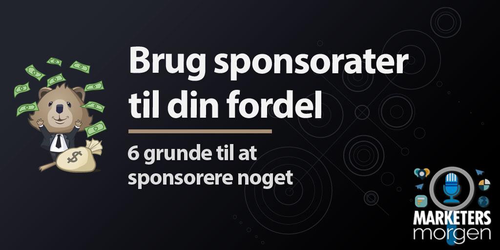 Brug sponsorater til din fordel