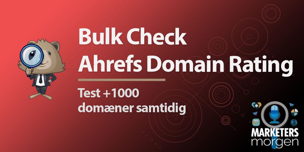Bulk Check Ahrefs Domain Rating