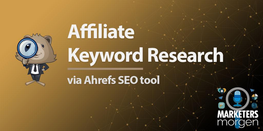 Affiliate Keyword Research