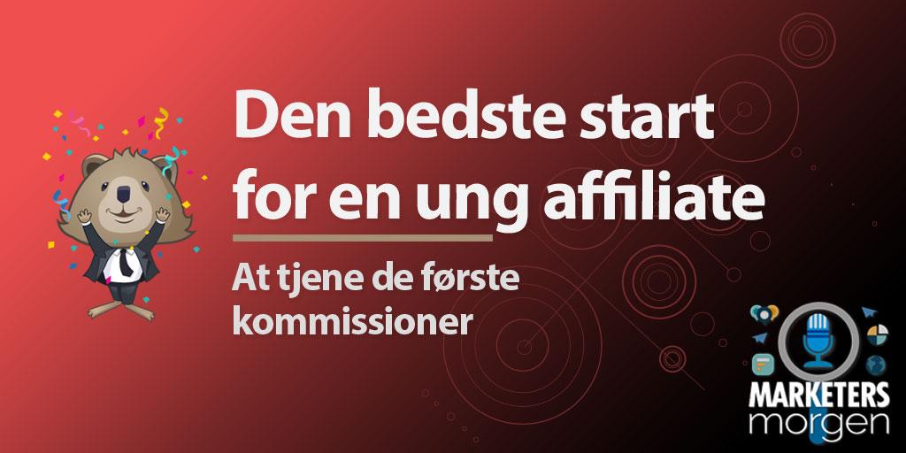 Den bedste start for en ung affiliate - At tjene de første kommissioner