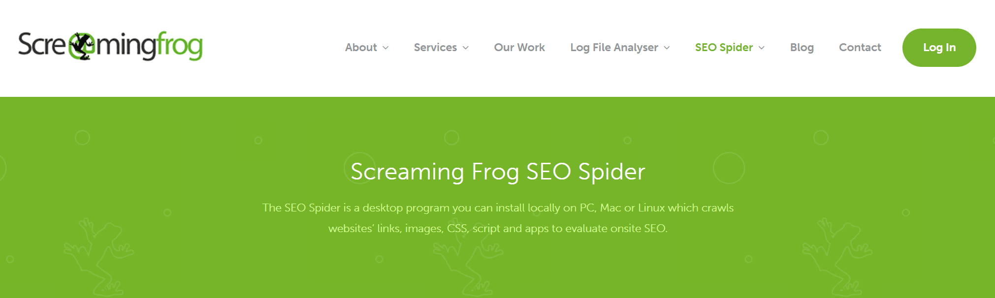 screaming frog er godt til test af affiliate websider